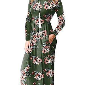 Dresses & Skirts - Size medium large, long sleeved, floral maxi.